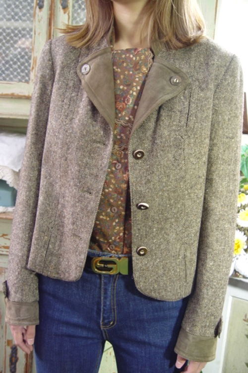 gorgeous antique highquality   wool  jacket  (europe)