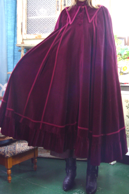 fantastic color  cotton velvet  romantic cape