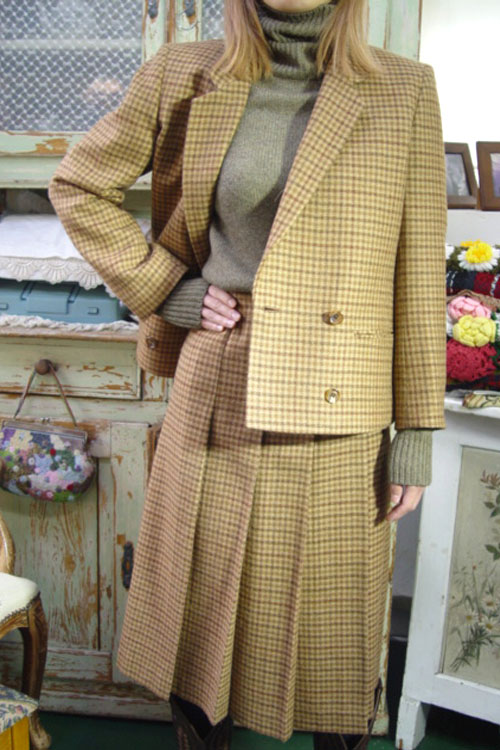 vintage wool cheak  Jacket
