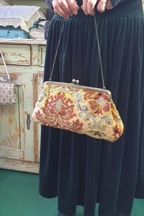 vintage velvat fabric  bag & clutch