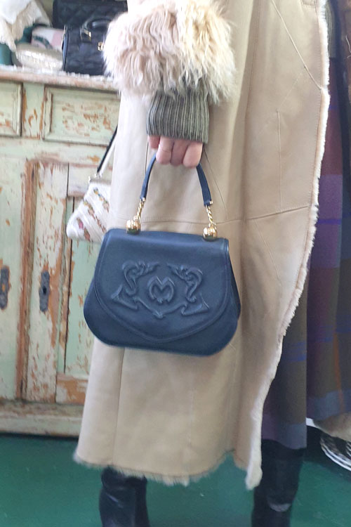 lovely   Mila schon leather navy bag
