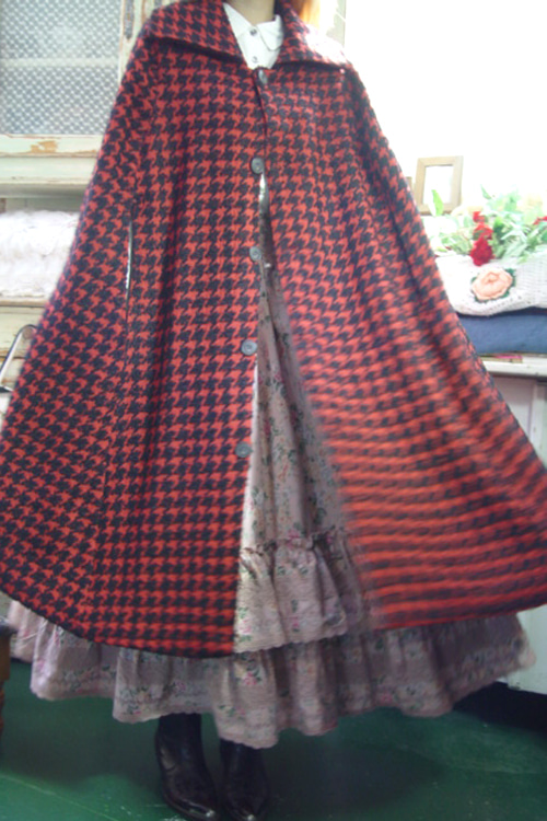 like a  movie ... . boutique  vintage cape coat