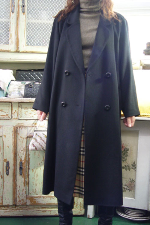 everyday classic Cashmere double   black coat