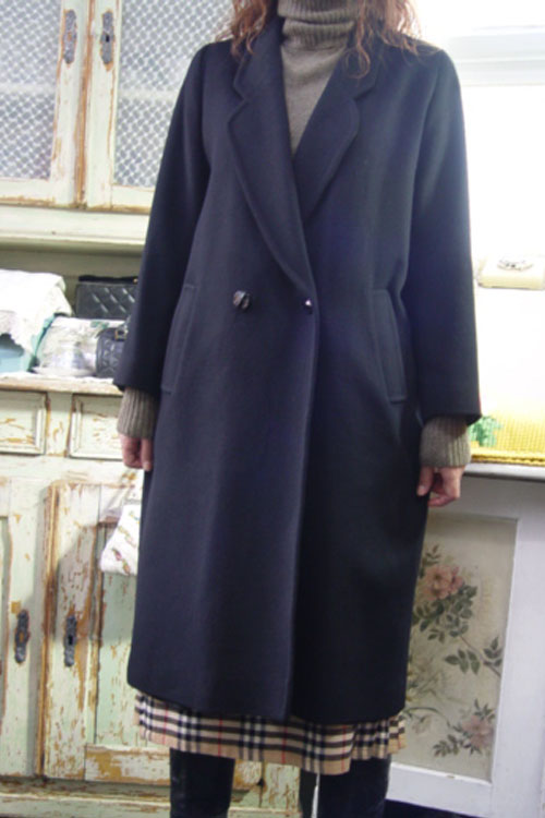 everyday classic  Cashmere black coat