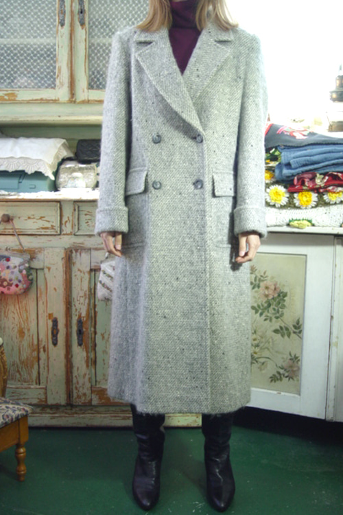 vintage gray  highquality  wool coat