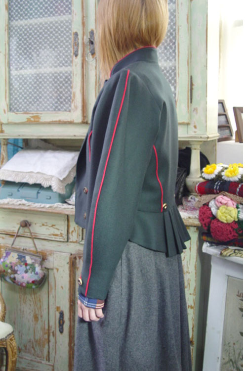 antique green highquality wool jacket (europe )