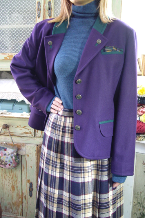 antique violet  highquality wool jacket (europe )