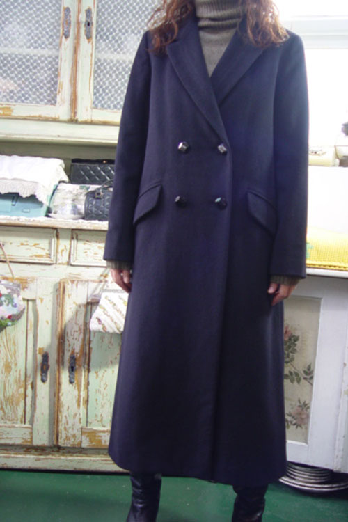 deep navy angora coat