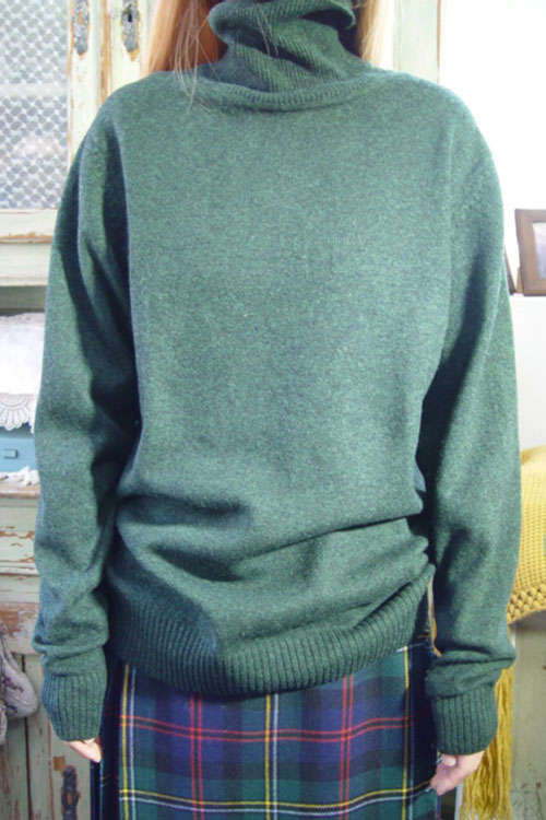 lambswool green knit