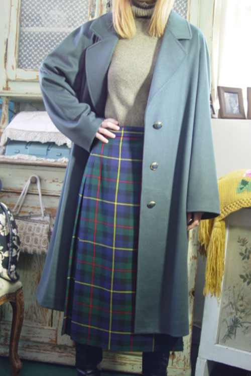 everyday classic Cashmere BLUegreen coat