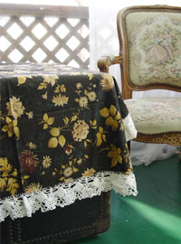 vintage tablecloth by FRANCE