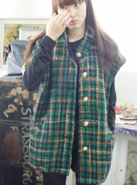 Tweed  Green Vest