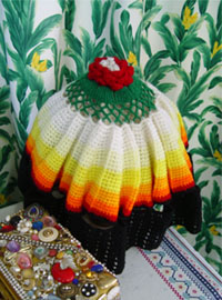 Hand Made Knit  lamp cover