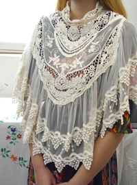 Antique lace embroidery  cape
