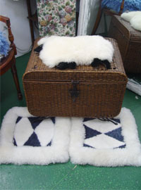 Lamb fur mat cushion 2 EA