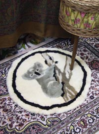 sheep Fur circle cushion