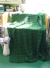 vintage romantic Deepgreen  Hand blanket (USA)
