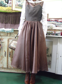 romantic   brown  organza dress
