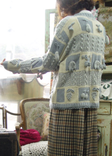 Deep in December .....something special vintage cardigan