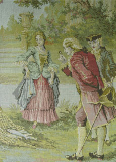 antique tapestry  romantic  lovers (england)