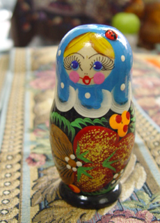 Handmade wood  Matryoshka  doll