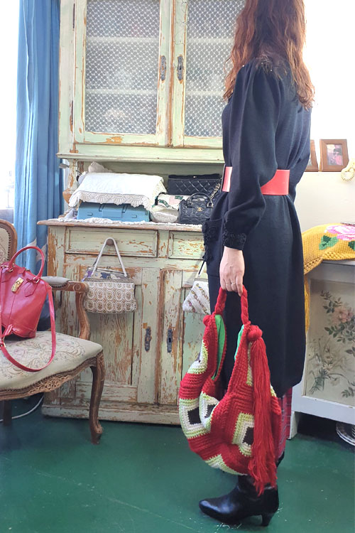 lovely  black knit  cadigan & dress
