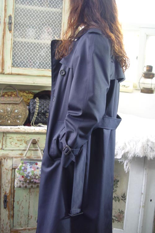 Burberrys  navy  England made  classic trench coat
